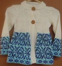 NEW ALPACA WOOL GIRL CHILD TODDLER, SWEATER CARDIGAN WHITE COLOR ANDEAN SOFT a