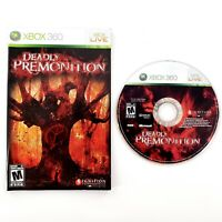 Deadly Premonition (Microsoft Xbox 360, 2010) w/ Manual No Cover Art Tested
