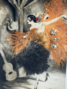 Louis Icart Spanish Dancer Original Etching