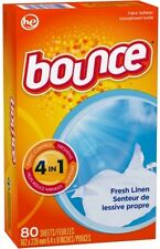 Bounce Fresh Linen Fabric Softener Dryer Sheets, 80 Count