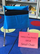 "1 SMALL SEAT SACK CHAIR POCKET  Fits Chairs 11"" WIDE or Smaller Many Colors"