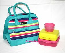 NEW Tupperware Summer Jam Lunch Set Bag Sandwich Snack Cup Divided Dish