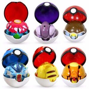 Pokimon toys set Pocket Monster PPikachu Action Figure Pokimon Game Poke Ball