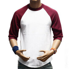 Mens Slim Fit T-Shirt Short / Long Sleeves Crew Neck Muscle Tee Sweater Tops K
