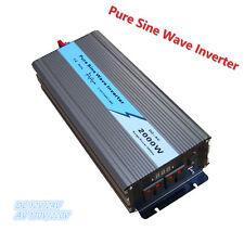 TOP 2000w /4000W Pure Sine Wave power Inverter DC 12v/24v To AC110v/220V LCD