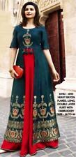 Indian Ethnic Long Anarkali Kurta Printed Beautiful Bollywood Gown Kurti Dress