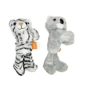2x Wild Republic Slap Band Wrist Strap Plush Soft Stuffed Toy Washed 20cm 2013