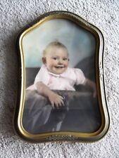 """VINTAGE WOOD FRAME WITH GLASS  ~ 13 1/2"""" X 9 1/2"""""""