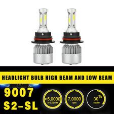 2PC 9007 Headlight Coversion LED Light Bulb Hi&Lo Power 97500LM 650W 6000K
