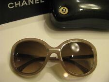 New AUTHENTIC CHANEL Sunglasses 6045-T c.1432/S5 Titanium Beige Brown Gradient