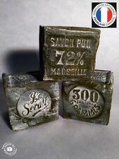 """LOT 3 x 300g CUBE SAVON DE MARSEILLE VERT """"LE SERAIL"""" 72% HUILE D'OLIVE"""