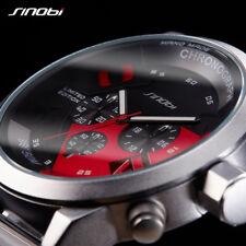Montre Homme TOP MARQUE Sinobi Sport Fashion Date Cuir chronograph Etanche PROMO