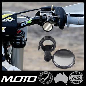 Dirt Bike Mirror Motorbike Fold able / Small / Rec Rego Enduro swivels 360 Moto