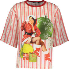 DOLCE & GABBANA A RIGHE STAMPA stagionale biancheria T-shirt