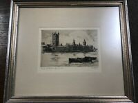 Cecil Forbes genuine original etching singed artist proof dickens old curiosity