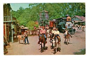 Postcard KNOTT'S BERRY FARM The Burro Train Happy Children Riding Horses D3