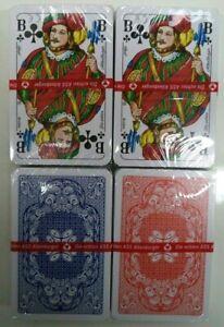 Original ASS Altenburger Romme Spielkarten, 55 Blatt (Rot/Blau) 2x 4x oder 8x