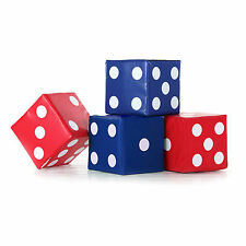 Implay Soft Play PVC Foam Children's Blue & Red Lucky Dice Shape Activity Toys