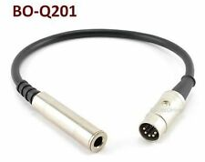 """1ft 1/4"""" Stereo Female to Din-5 Male BO, Naim, Quad Audio Adapter Cable"""