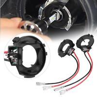 2x H7 LED Bombilla Faro Adaptador Retenedor Soporte Para VW Golf MK7 Jetta
