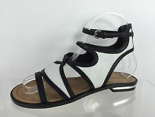 Rebecca Minkoff Womens Black/White Sandals 5.5 M