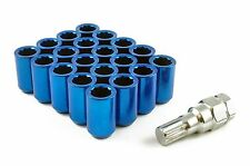 TUNER WHEEL NUTS STEEL BLUE M12 x 1.5 fits FORD ESCORT FIESTA FOCUS ST RS