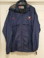 NIKE VIRGINIA CAVALIERS COLLEGE FOOTBALL BASEBALL USED/TEAM ISSUED JACKET SZ L