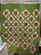 antique Red & Green star quilt think holidays
