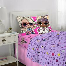 LOL Surprise! 3 Piece Twin Sheet Set (fitted/flat + Pillowcase) BRAND NEW!