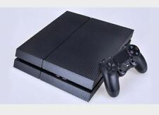 Black Carbon Fibre Skin Vinyl Decal Sticker for the PlayStation 4 Console PS4