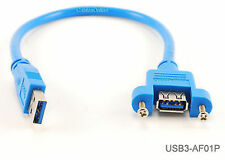 1ft USB 3.0 Extension Male to Female Molded Panel Mount External Port Cable