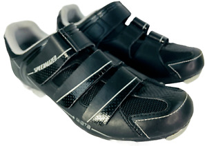 Specialized Riata MTB Cycling Shoes Womens Size 9.5 Black Silver 6112-4641