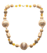 Princess Rose Gold Ball/ Clear Orange & Gorgeous Coffee Brown Necklace(Ns17)