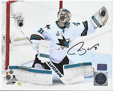 Martin Jones San Jose Sharks autographed 8x10 Photo (In-store Signing 10/28/16)