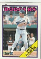 FREE SHIPPING-MINT-1988 Topps #225 Mike Scioscia  Dodgers  PLUS BONUS CARDS