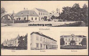 Wilfersdorf Schule Villa und Schloss Mehrbildkarte 1910 Bezirk Mistelbach