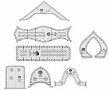 Creative Grids Machine Quilting Tools Rulers -Taj, Elvira, Chevy, Squiggy, Short