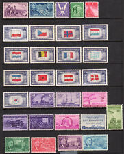 1942-1945 US WWII Postage Stamps, Complete Set, MNH w/ 906 China Resistance