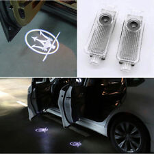 2× LED Door Light For MASERATI Quattroporte Ghibli Car Projector Logo Ghost Lamp