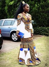 African print Dashiki  fabric Prom Dress
