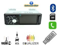 AUTORADIO CON DISPLAY MP3 MP4 FM AUX USB SD VIVAVOCE BLUETOOTH SMARTPHONE 45Wx4