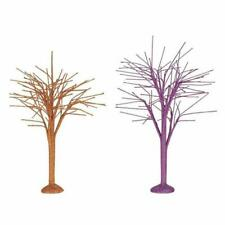 Dept 56 Halloween Village 2019 October Sparkle Bare Branch Trees #6004337 Nrfb *