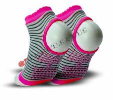 4 Packs Ladies Sports Gym Yoga Socks Trainer Non Slip Sole Gripper Ballet Liner