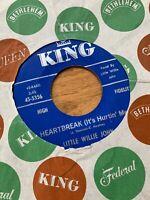 LITTLE WILLIE JOHN Heartbreak KING 45, R&B, SOUL ORIG RARE VINYL