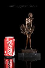 "10.8"" West Art Deco Bronze Sculpture Beautiful Girl Marilyn Monroe Art Statue"
