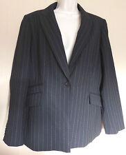 Principles new UK16 EU44 US12 black with pink pinstripe jacket with 40% wool
