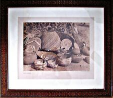 "Edward S. Curtis Vintage Photogravure, Karok Baskets, Large  26 x 22 3/4"",  1923"