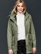 New GAP Women's 2-in-1 Parka Jacket Coat Olive Green XS NWT $168