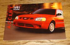 Original 2001 Hyundai Accent Deluxe Sales Brochure 01