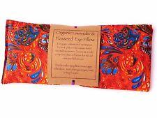 Almohada de ojos de linaza orgánico Lavanda & Yoga, Meditación., Relajación, Bienestar